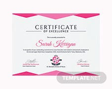 Free certificate of achievement template in psd ms word publisher music achievement certificate template yadclub Choice Image