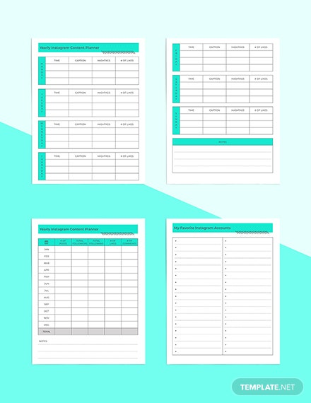 Instagram Planner Example