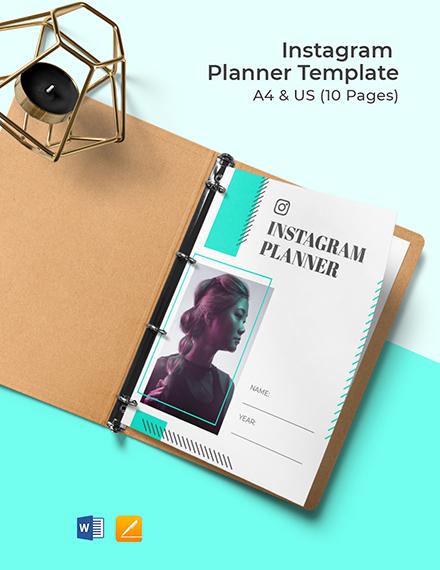 Instagram Planner Template