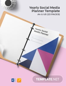Yearly Social Media Planner Template