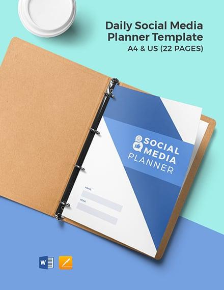 Daily Social Media Planner Template