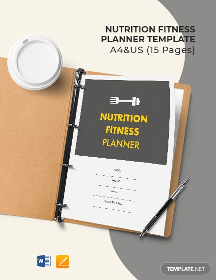 Nutrition Fitness Planner Template