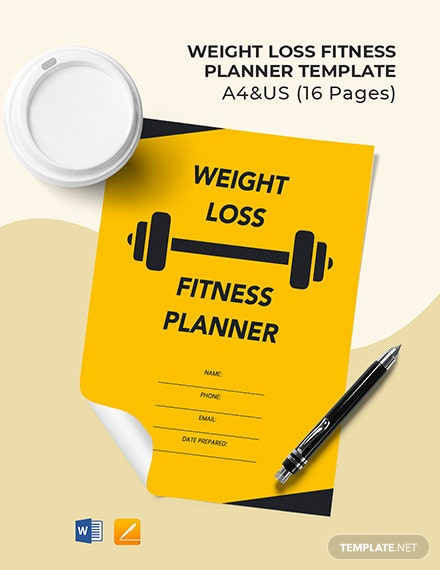 Weight Loss Fitness Planner Template