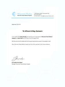 Nursing Experience Certificate Template