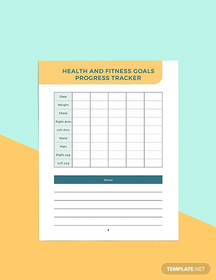 Sample health and fitness Planner