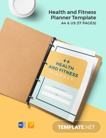 Health and Fitness Planner Template