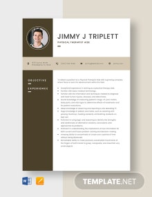 Physical Therapist Aide Resume Template