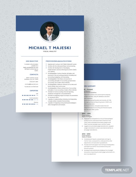 Fiscal Analyst Resume Download