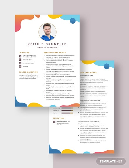 Financial Technician Resume Download
