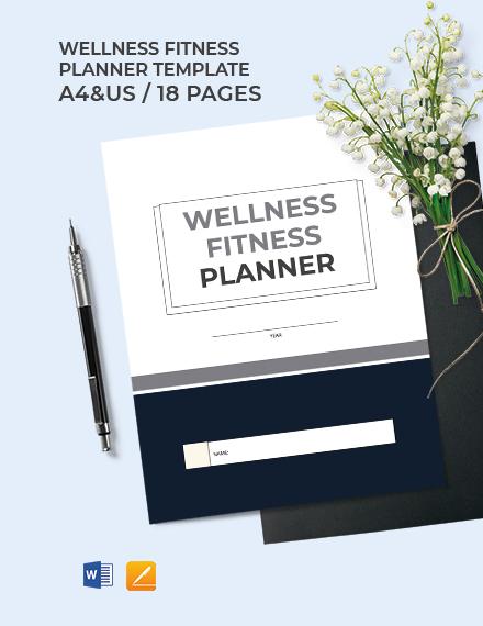 Wellness Fitness Planner Template