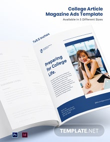 Free College Article Magazine Ads Template