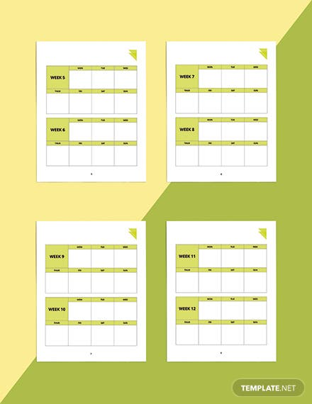 Week Fitness Planner Template Printable