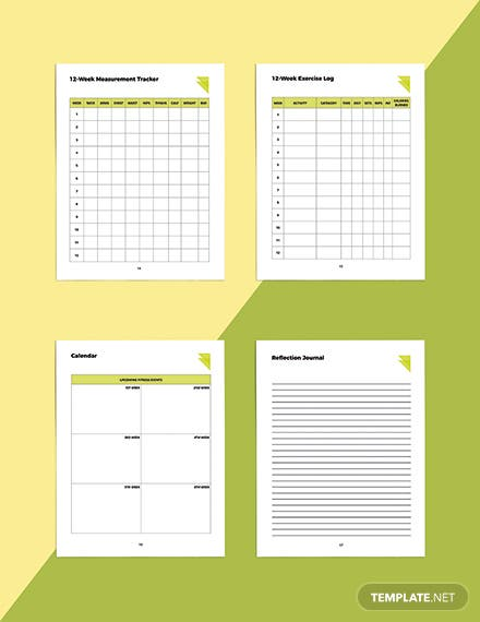 Week Fitness Planner Template Readable