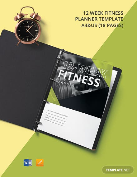 12 Week Fitness Planner Template