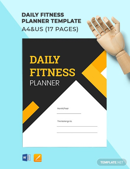 Daily Fitness Planner Template