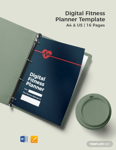 Digital Fitness Planner Template