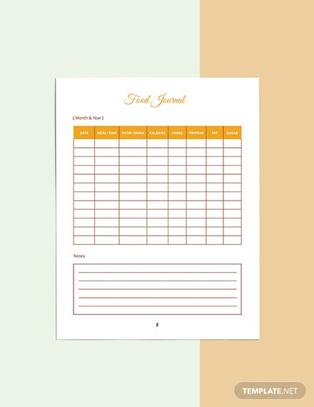 Food And Fitness Planner Template Editable