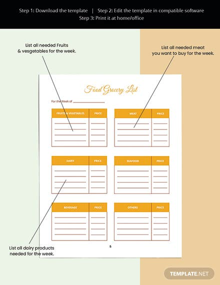 Food And Fitness Planner Template Readable