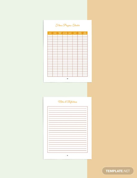 Food And Fitness Planner Template Sample