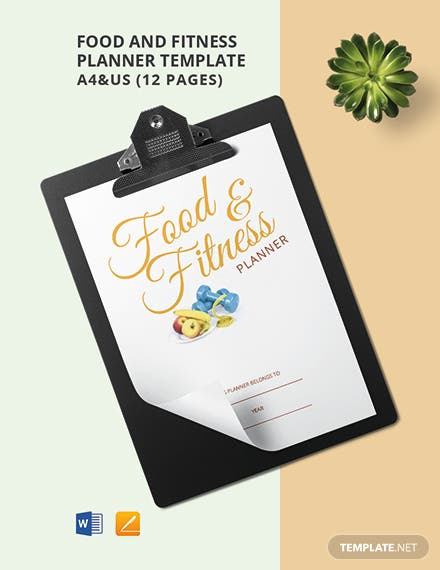Food & Fitness Planner Template