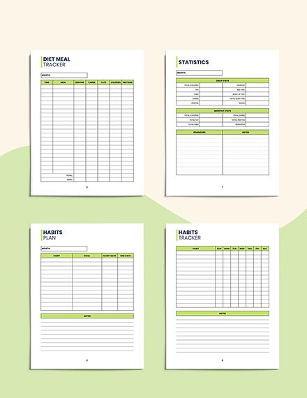 Food  Hydration Planner Editable