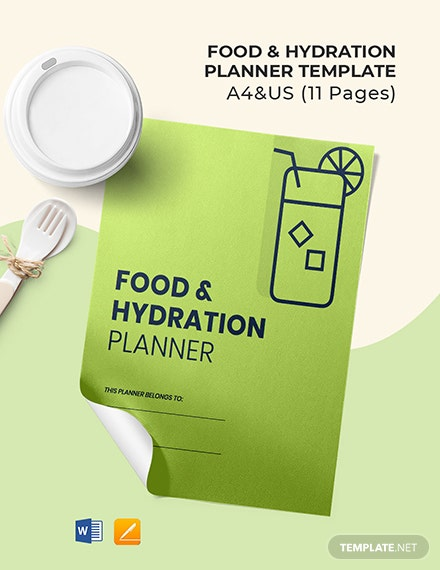 Food & Hydration Planner Template