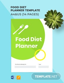 Food Diet Planner Template