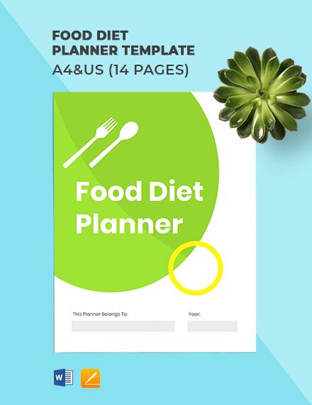 Food Diet Planner Template