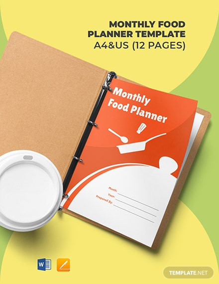 Monthly Food Planner Template