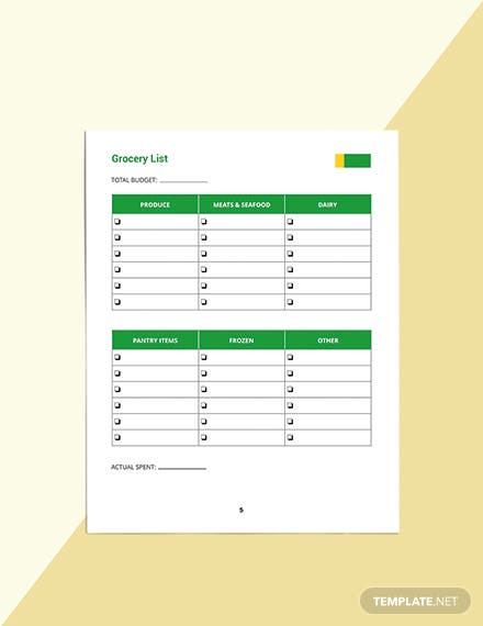 Daily Food Planner Template Format