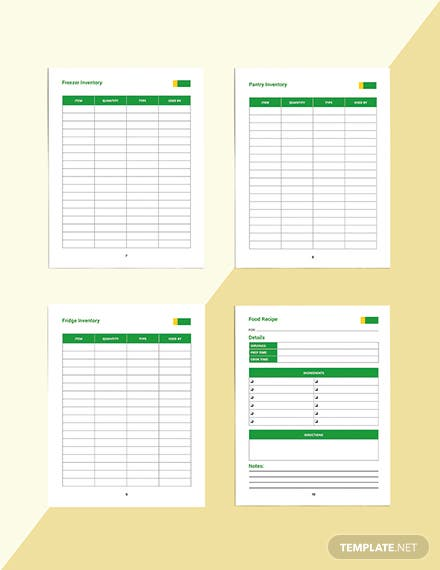 Daily Food Planner Template Sample