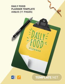 Daily Food Planner Template
