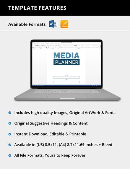 Printable Media Planner Format