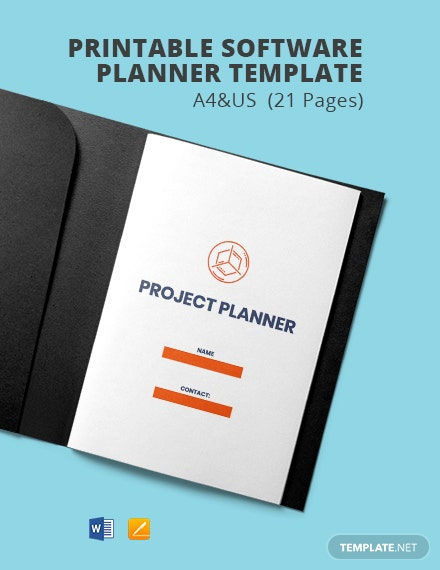 Free Printable Software Planner Template