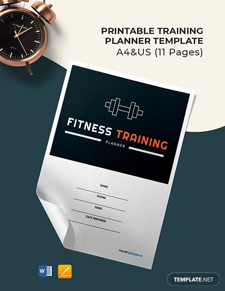 Free Printable Training Planner Template