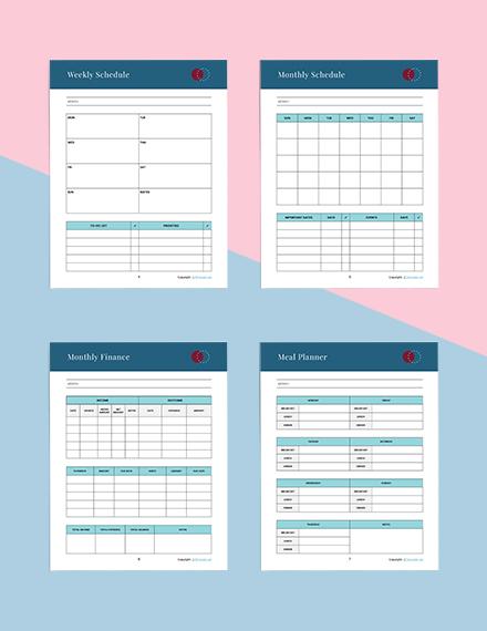 Printable Journal Planner Download