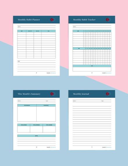 Printable Journal Planner Example