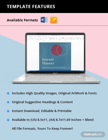 Printable Journal Planner Instruction