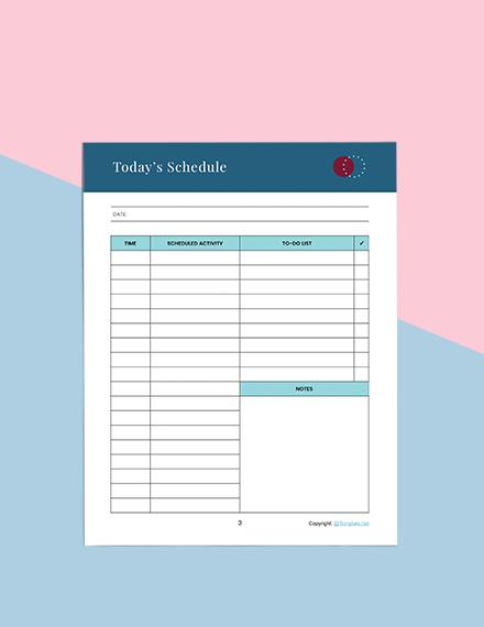 Printable Journal Planner Sample