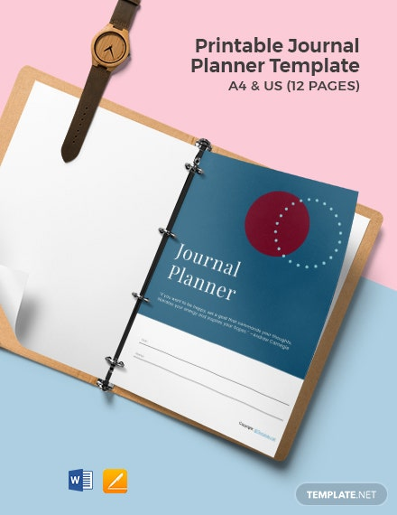 Free Printable Journal Planner Template