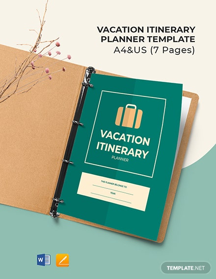 Free Vacation Itinerary Planner Template