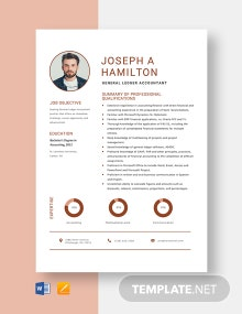 General Ledger Accountant Resume Template