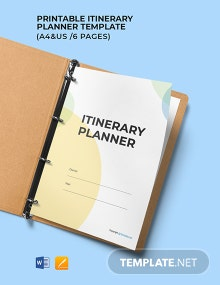 Free Printable Itinerary Planner Template