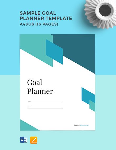 Free Sample Goal Planner Template