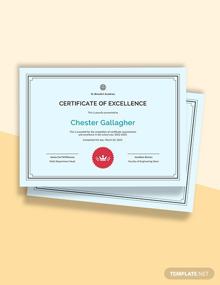 Free Student Achievement Certificate