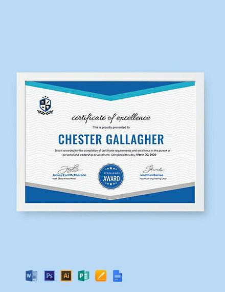 Free Student Achievement Certificate