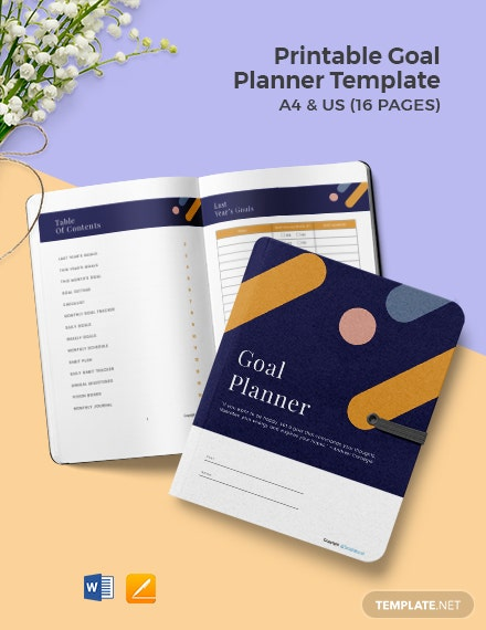 Free Printable Goal Planner Template