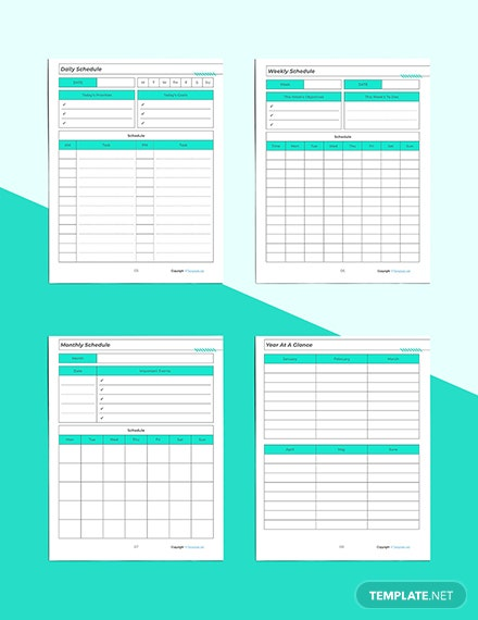 Printable Marketing Planner Daily Schedule