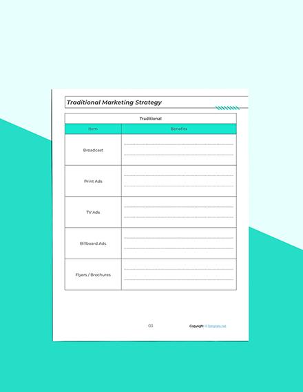 Printable Marketing Planner Example