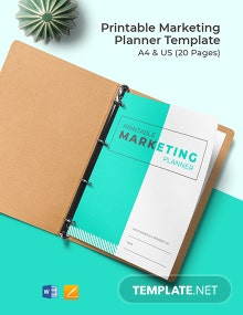 Free Printable Marketing Planner Template